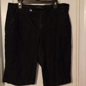 Bandolino dark denim shorts.